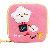 Girl's Cute Cartoon Sanitary Napkin Towel Pads Small Bag Purse Holder Organiser