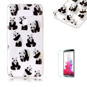 For LG G6 Sparkly Sequins soft TPU+IMD Case. Brilliant lovely Coloured Drawing Parttern Lightweight Ultra Slim Anti Scratch Transparent Soft Gel Silicone TPU Bumper Protective Case Cover Shell for LG G6 - Panda