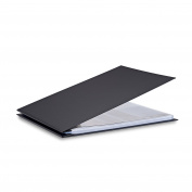 Pina Zangaro Bex 11x14 Landscape Screwpost Binder, Black, Includes 20 Pro-Archive Sheet Protectors