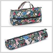 Matching Set - Knitting Bag (fabric handles) & Knitting Pin Soft Case - Summertime
