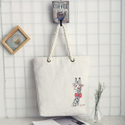 PriMI Ladies Reuseable Environmental Protection Shopping Bag Canvas Beach Shoulder Bag