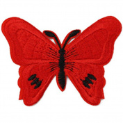 Laat Cartoon Clothes Patch Iron on Sticker Cute Butterfly Dress Scarves Applique Dress Embroidery DIY Accessories Sew Fabric Craft Sewing 7 * 5.2 cm BAG02696 M 7 * 5.2 cm Rote