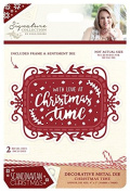 Sara Signature Collection Scandinavian Christmas Die - Christmas Time, Silver