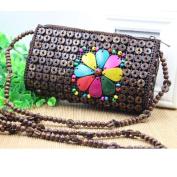 MOXIN Ladies shoulder bag - long section weaving Messenger bag , coffee colour
