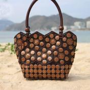 MOXIN Ladies woven bag - coconut shell fashion beach shopping, handbag
