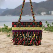 MOXIN Weave shoulder bag - pure handmade ribbon shopping coconut shell weave beach Lady bag