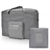 GUJJ Foldable men trolleycase handheld travel bag luggage package, there is a light grey