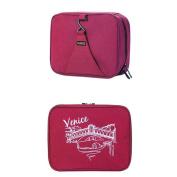 GUJJ Large capacity vanity package portable Multifunction Ms. men travel waterproof vanity, Red