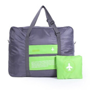 GUJJ Multifunction travel pouch in the large capacity luggage package hand foldable pouch, Green