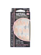 Royal 24 Flexible And Durable Glue On Nail Tips - French Stiletto