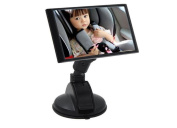 MWYJR View mirror Turn function Clear Safe Simple Secure Instal Back Seat Rear View Fixing Straps Suction Cup Baby Car Mirror , A