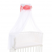 Babybay Organic Cotton Canopy, White/Peach Stars