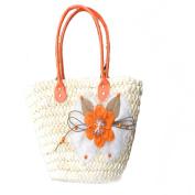 Handmade Straw Knitted Women Handmade Purse Shoulder Bag Handbag