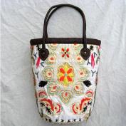Handbag Women Ethnic Handmade Embroidered Bag Vintage Purse .Shopping bag
