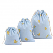 Cdet 3Pcs/Lot S M L Blue Banana Drawstring Bag Finishing Bag Gift Bag Home Supplies