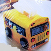 CHENGYIDA School Bus Tissue Box Cover, Easy Sewing Project, Sewing kit, Felt Crafts Kit