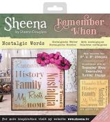Sheena Douglass Remember When Stencils - Nostalgic Words, Transparent