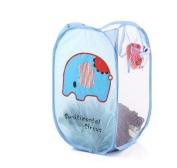 ivebetter Portable Elephant Patten Collapsible Mesh Cloth Storage Basket