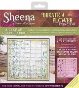 Sheena Douglass Create A Flower - Stencil - A Leaf of Graph Paper, Clear