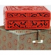 Traditional Chinese Hand Made Red Lacquer Card Holder