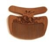 Traditional Chinese Wooden Decotive Flower and Bird Comb