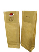 10 Kraft Bags with Closure Label Christmas