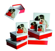 Ladies Lady Women Woman Her - Top Selling Dog Puppy With Heart Gift Storage Box Set - Wrapping Solutions - Perfect for Secret Santa Stocking Fillers Xmas Christmas Birthday Valentines Anniversary Gift Present Idea - One Supplied
