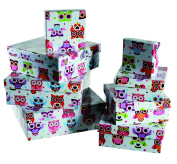 Ladies Lady Women Woman Her - Top Selling Owls Gift Storage Box Set - Wrapping Solutions - Perfect for Secret Santa Stocking Fillers Xmas Christmas Birthday Valentines Anniversary Gift Present Idea - One Supplied