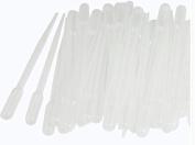 tfrdertuuigf 50 Pcs 2ml Clear White Plastic Liquid Dropper Pasteur Pipette