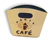 Small Rigid Tidy Bag - Paris Cafe Design
