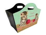 Foldable Tidy Bag - I Love Knitting - Kittens Design