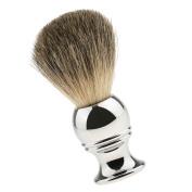 MagiDeal Professional Salon Barber Men Shaving Brush Mens Long Handle Shave Tool