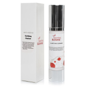 Berries and Crème ORGANIC NATURAL Clarifying Cleanser and ANTI ACNE face wash to reveal a younger, fresher, clear complexion