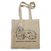 Dog Breed Bearded Collie Tote bag s790r