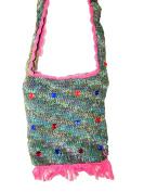 Fairtrade Crochet Flower / Sequin Shoulder Bag - Small