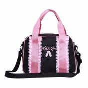 Freebily Girls Kids Toe Shoes Embroidered Ballet Dancing Bag School Bag Handbag with Detachable Strap