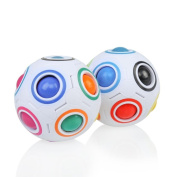 Magic Rainbow Ball Fun Cube Stress Relief Toy ,Yannerr Scented Sludge Toy For Kids Soft Non-sticky