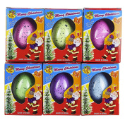 Hatching Egg,Wyurhjh® Glittering Garden Water Draggle Santa Claus Snowman Eggs Playset Sparkly Twinkling Shimmering Toy Collectibles for Xmas Gift