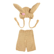 Zhuhaitf Newborn Baby Photography Props Outfits Girl Boy Crochet Knitted Hat Pants 5261#