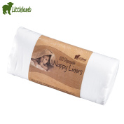 """Little Lamb """"Stay Dry Paper Fleece (1X100 Sheets) Nappy Liner for Cloth Nappies Fleece Inlays"""
