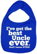 Dirty Fingers, I've got the Best Uncle Ever, Boy Girl Feeding Bib, Royal Blue by Dirty Fingers