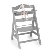 Hauck Wooden Highchair with Crotch Strap, Grey