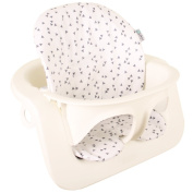 Highchair cushion Ukje Stokke Steps - White with grey triangles - Coated ♥