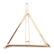 MSmask Hair Clip Hairpin Snap Lovely Simple Hollow Out Geometry Triangle Gold Plated