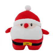 LKKLILY-Christmas gifts creative new Santa Claus, cushion, hands, air conditioning blanket, three in one. Pillow blanket