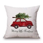 Kicode Merry Christmas Cotton Linen Pillow Case Cushion Cover