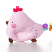 Affe 1 Pcs Baby Boy/Girl Cute Chicken Pillow- New Born Baby Cotton Memory Pillow Preventing Flat Head, Pink