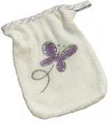 Be Be's Collection 765/26 Washing Mitt Butterfly 17 x 22 cm purple