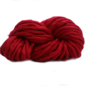 Anti-pilling Thick Acrylic Yarn Soft Scarf Knitting Wool Hand-knitted Work Wool-Red