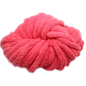 Fashion Polyester Knitting Wool Yarn for Handmade Scarf Sweater Yarn Super Thick-Watermelon Red